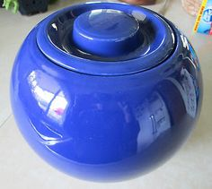 LARGE Vintage Fiesta Kitchen Kraft Cobalt Ball Jar Made in the USA Rare