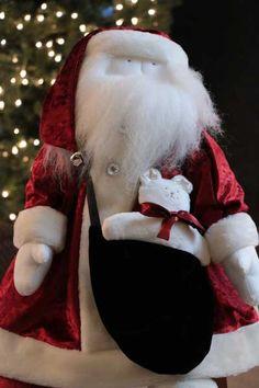 Red Velvet Santa, by Woof & Poof.
