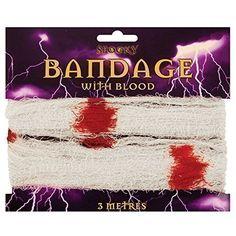 Halloween Bandage With Blood Fancy Dress Prop 3 Metres Long
