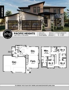Modern Style Homes, Contemporary Style Homes, Sims 4 House Plans, Glass Garage Door, Pacific Heights, Cost To Build, Sims 4 Houses, Clean Microfiber, Walk In Pantry