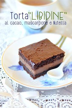 "Sprinkles Dress: Torta ""libidine"" al cacao, mascarpone e Nutella"