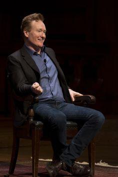 Conan O'Brien Returns to Harvard Conan O Brien, Harvard, Crosses, Bliss, Canada, Celebs, Education, Board, Fictional Characters