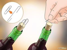Here's a new trick to open a bottle of #wine using a paper clip