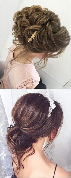 Long wedding updos and hairstyles from Elstile #weddings #weddingideas #hairstyles / http://www.deerpearlflowers.com/new-long-wedding-hairstyles-updos/
