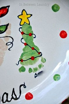 Hand/Foot print art for Christmas, thought this would be a cute ideas for all you parents with little ones.