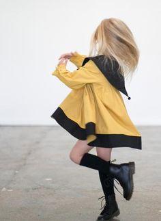 Carbon Soldier Florentine Dress in Mustard and Black - FINAL SALE