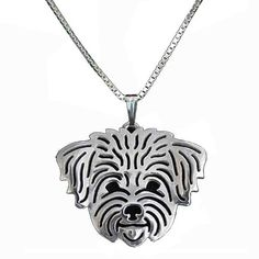 Silver Plated Necklace Christmas Gift For Pet Lovers
