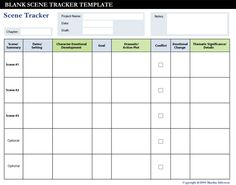 conflict calendar template - 1000 images about scene tracker for writers on pinterest