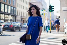 New post on http://www.styledumonde.com/ with #ChiaraTotire @Chiara Totire before #Blumarine at #milanfashionweek #mfw #fw14 #electricblue #outfit #ootd. Photo by #styledumonde @Style DuMonde #streetstyle #streetfashion #streetchic #streetlook #fashion #mode #style #milano #girl #weloveit