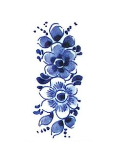 This pretty floral temporary tattoo is made in the Dutch 'Delfts Blauw' style. I love these old Dutch designs. This temporary tattoo will look lovely on your wrist or ankle! ................................................................................................................ WHAT YOU G...