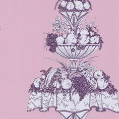 Cole & Sons Opera L x W Wallpaper Roll Color: White/Lilac Wallpaper Roll, Pattern Wallpaper, Cole And Son, Digital Pattern, Vintage Patterns, Lilac, Opera, Texture, Contemporary