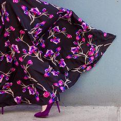 Dutch Crocus Silk Maxi Dress #Anthropologie #MyAnthroPhoto