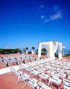 Wedding Set Up At Capri Palace Hotel U0026 Spa, Anacapri, Italy Palace Hotel,