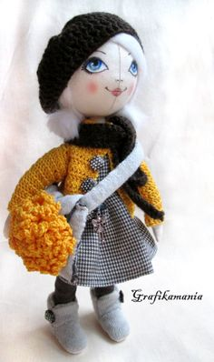 Pattern textile dolls by grafikamania on Etsy