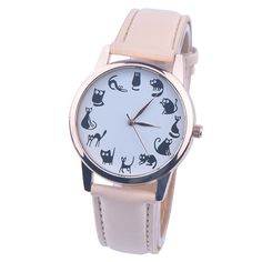 women watches Relogio Feminino Cat Pattern bayan saat Leather Band Quartz Ladies Watch Relojes mujer 2017 saat cat watches //Price: $8.95 & FREE Shipping //     #catstore