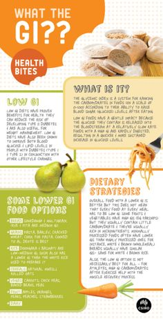 Infographic on the glycemic index and its relation to blood glucose levels.