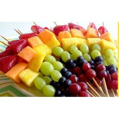 Fruit kebabs are for children aged and focuses on their physical development . Fruit kebabs are for children aged and focuses on their physical development while also promotin Salads For Kids, Healthy Eating For Kids, Fruit And Veg, Fruits And Vegetables, Veggies, Olivers Vegetables, Vegetable Crafts, Fruit Kebabs, Fruit Appetizers