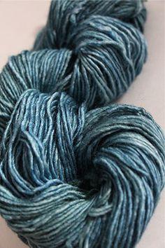 f3416a52d26 Malabrigo silky merino knitting yarn in Green Gray is silk and baby merino  with a silky shimmer and merino drape.