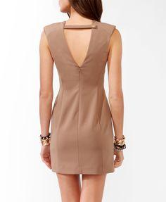 Mesh Panel Sheath Dress | FOREVER21 - 2021840796