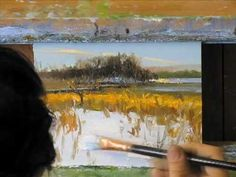 Peter Fiore: Landscape Painting a Day (10 min) - YouTube