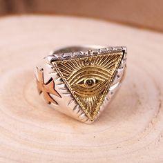Men's Sterling Silver Masonic Ring