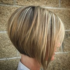 Concave Short Bob for Fine Hair