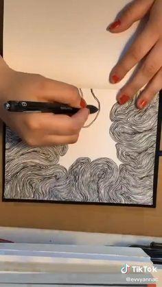 Art Drawings Sketches Simple, Pencil Art Drawings, Art Diary, Diy Canvas Art, Pen Art, Art Journal Inspiration, Art Sketchbook, Aesthetic Art, Doodle Art