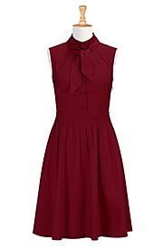 Tie neck poplin dress Save up to 30% Off at eShakti with Coupon and Promo Codes.