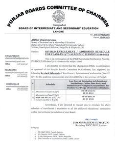 Education In Pakistan, Class Schedule, Unit Plan