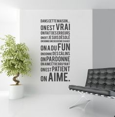 """ Quotes Wall Art Mural Home Decor - French Family Exclusive Decor Deco Stickers, Vinyl Wall Stickers, In This House We, Mural Wall Art, France, Home And Deco, Wall Art Quotes, My Living Room, Decoration"