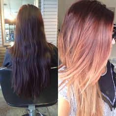 Obsessed with my new hair!! Loving the bold ombré! (Just need to style it! Lol)
