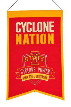 "Iowa State Cyclones 20""x15"" Wool Cyclone Nation Banner"