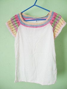Pretty crochet t-shirt by APC crochet