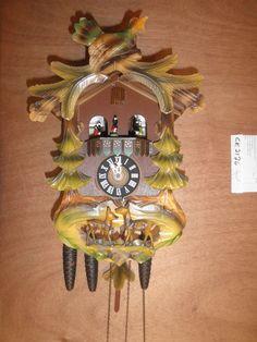 ddd7b540fbe Cuckoo Clock Balck Forest German Schmeckenbecher SEE VIDEO musical 1 Day  CK2126