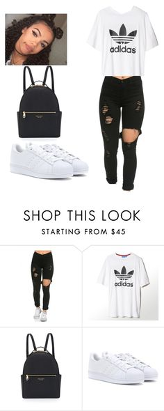 """When you stuck in a hotel with bad kids😩😂"" by bongo101love ❤ liked on Polyvore featuring adidas and Henri Bendel"