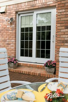 Pella  Designer Series  ENERGY STAR qualified sliding patio doors offer a  variety51 Simonton Windows Installed   Window  Vinyl replacement windows  . Pella Sliding Patio Door With Blinds Between Glass. Home Design Ideas