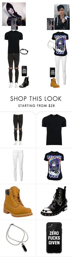 """""We where pulled into the darkness, but he has it worse."" ~Talia"" by bumble-bucky ❤ liked on Polyvore featuring Dolce&Gabbana, Frame, Poizen Industries, Timberland, Alexander McQueen and Casetify"