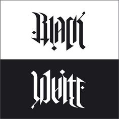 """Black / White"", rotational ambigram, via Flickr."