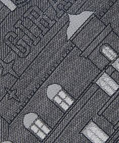 Necktie(ネクタイ)のホテルジラフタイ CHARCOAL×WHITE(ネクタイ) 詳細画像