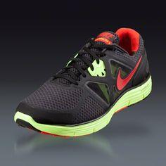 Nike LunarGlide 3 zapatillas  Antracita / Negro / Volt / Rojo Challenge Artículo # 27759