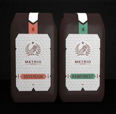 Metrio Coffee Packagin by Robinsson Cravents, via Behance