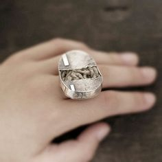 the ring of the 'soul'   XXL             sterling by ewalompe, $160.00