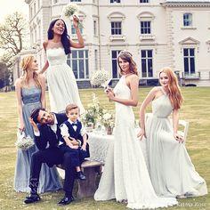 kelsey rose bridal 2016 mix match mismatched lace bridesmaid dresses romantic wedding party gowns