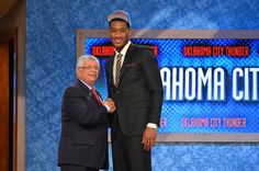 Perry Jones III smiles after his selection by OKC in the 2012 NBA Draft. // #Baylor alum
