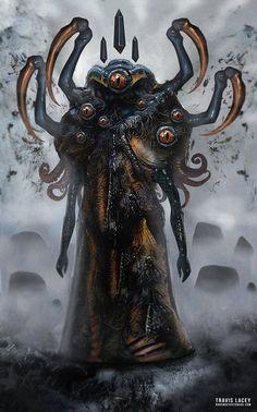 Cthulu Monster by RavenseyeTravisLacey on DeviantArt Monster Concept Art, Fantasy Monster, Monster Art, Dark Creatures, Fantasy Creatures, Creature Concept Art, Creature Design, Arte Horror, Horror Art