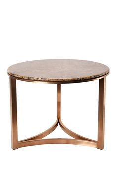"""Coffee Table /Round Marble Contemporary Coffee table / Stainless Steel / Rose Gold /End table/ Height 19"""" by IvaDecorStudio on Etsy"""