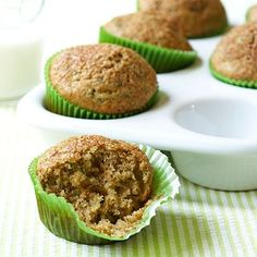 """""""I was looking for something healthy the kids could grab for breakfast on the way out the door and came up with these healthy muffins...."""