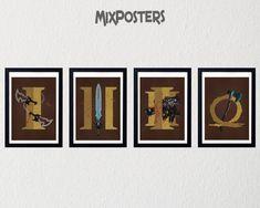 GOD OF WAR 4-pack posters Minimalist Print Superhero Poster | Etsy God Of War, Superhero Poster, Creative Posters, All Design, Graphic Prints, Wall Art Prints, Art Pieces, Digital Art, Wall Decor