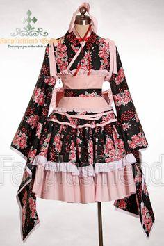 wa lolita: consiste à porter des kimonos mignons