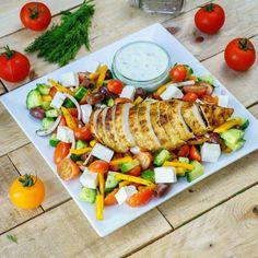 Greek Lemon Chicken, Lemon Garlic Chicken, Fresh Garlic, Real Food Recipes, Chicken Recipes, Cooking Recipes, Healthy Recipes, Healthy Fats, Healthy Eating